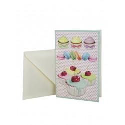 Tarjeta consobre Cupcakes